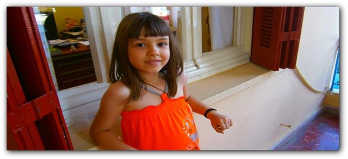 μικρή μαθήτρια της Μαγδαληνής Φασουλή